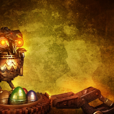 Background Owl Steampunk