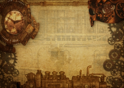 Steampunk Hintergrund The Maschine