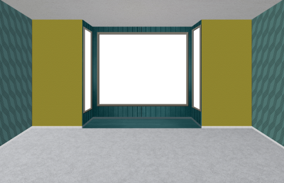 Empty room with large window and bay window - modern