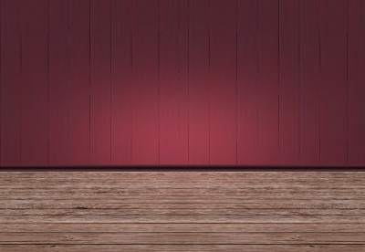 Room With Red Wooden Wall And Wooden Floor