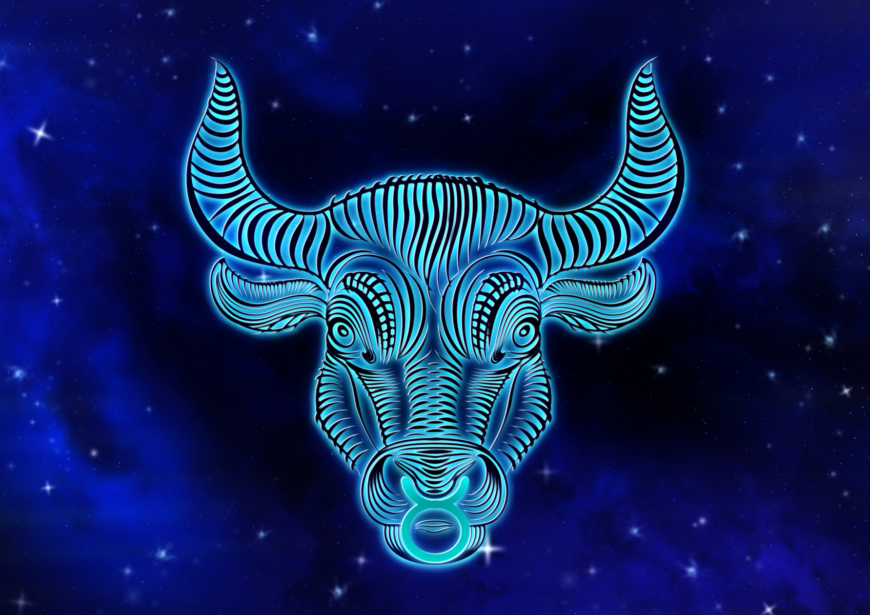 Astrological sign Taurus - Taurus in noble blue