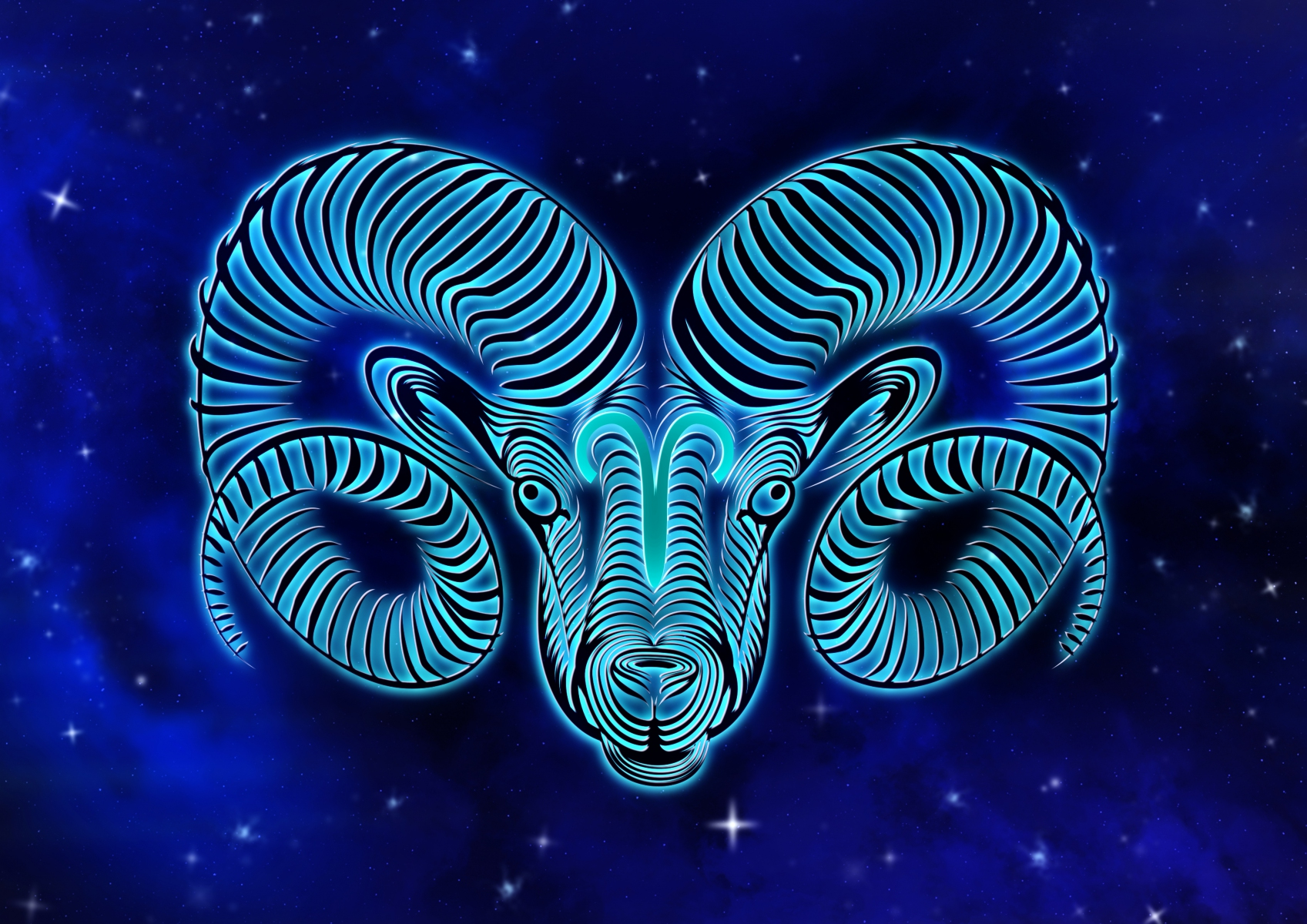 Astrological sign Aries - Aries in noble blue