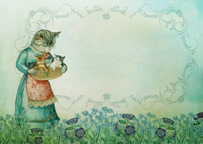 Vintage- Sweet Cats