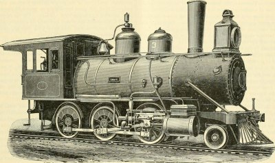 Dampflokomotive - Mogul - Antike Illustration
