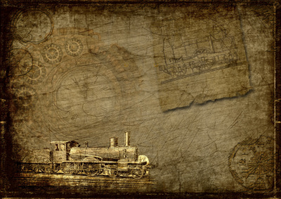 Steampunk - Antike Lokomotive In Vintageart