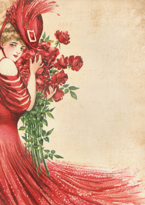 Vintage-Lady-in-red