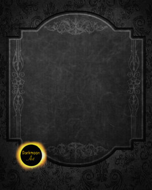 "Gothic Hintergrund mit Tafel ""black is beautiful"""