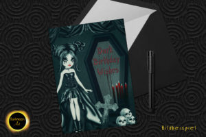 Dark Birthday Wishes Vom Gothic Girl 1