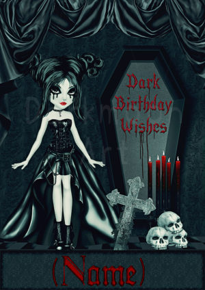 Personalisiert Gothic Dark Birthday Wishes schaubild