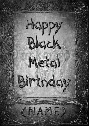 Personalisierung Happy Black Metal Birthday