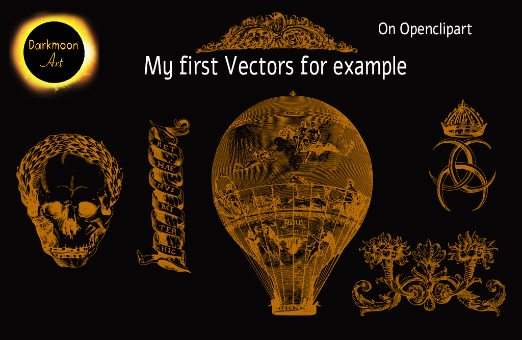 My first Vectors at Openclipart